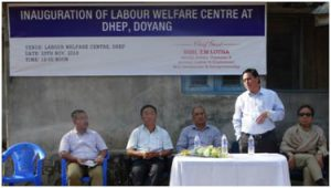 Inauguration of LWC at Doyang Hydro Electric Project (DHEP) by Dr. T.M. Lotha Hon'ble Advisor, L&E,SD&E, Treasury and Accounts on 25th Nov, 2016